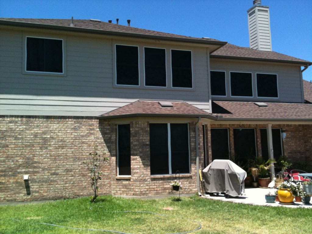 For all the windows on the back side of this home, we used the 90% solar screen fabric.
