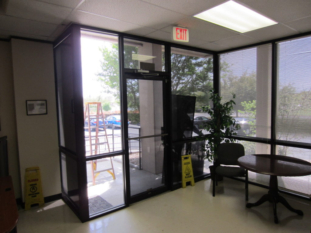 90% solar screens are up on all the windows to include a solar screen for that swing door.