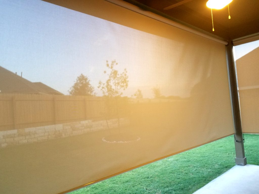 Looking through 97% Beige patio screens.  It's quite amazing how well you can see through these dense 97% patio screens.