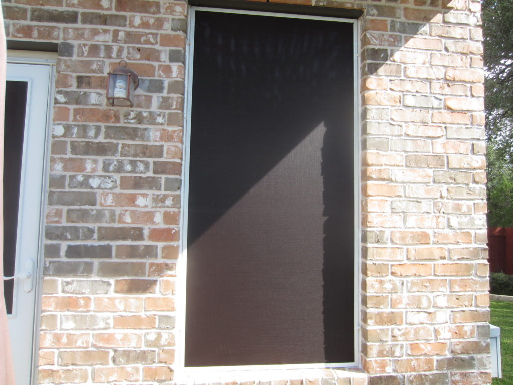 Close up picture showing a 90% solar screen.