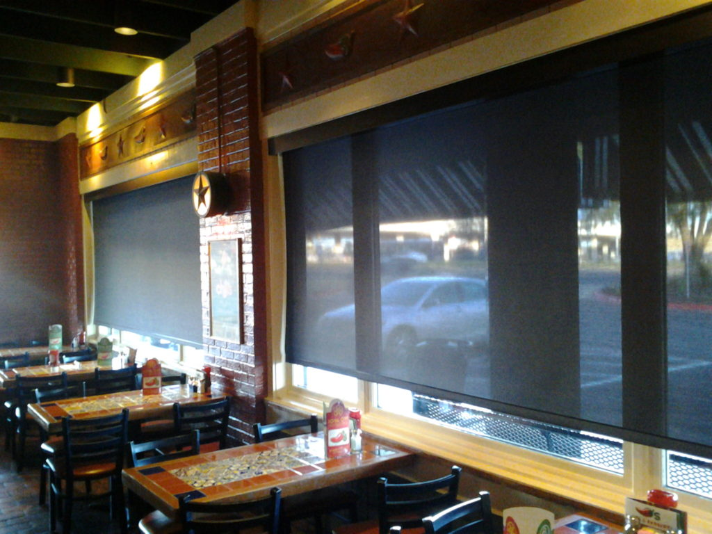 Austin Texas Restaraunt window shades are the number one way to shade your restaurant windows, and our installed pricing for Austin TX Restaraunt window shades is VERY hard to beat.