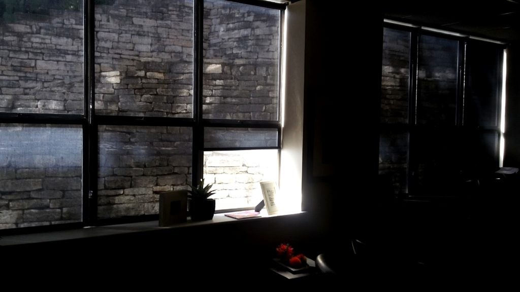 The best office window shades are interior roller shades. We make and sell our own line of office window shades.