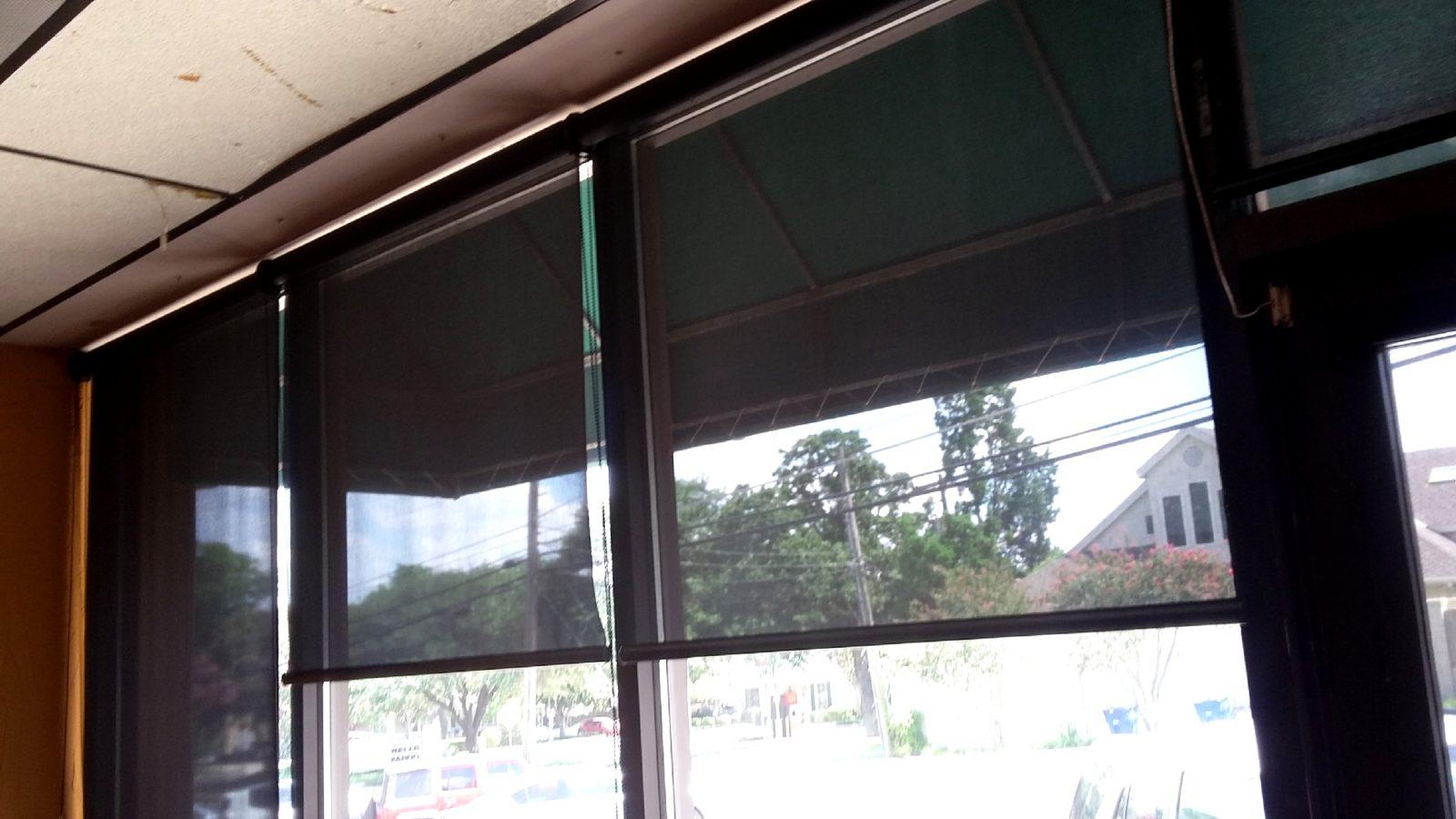Commercial Roll Shades Solar Screens By Josh Austin Tx