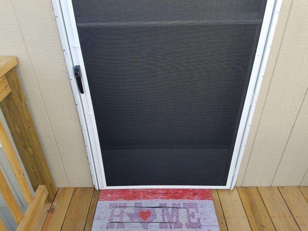 Austin storm door with solar screen