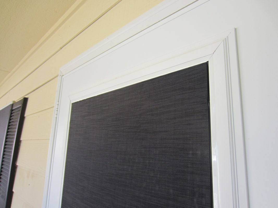 This Storm Door Has A Solar Screen Inset Within The Framing Of The Storm  Door.