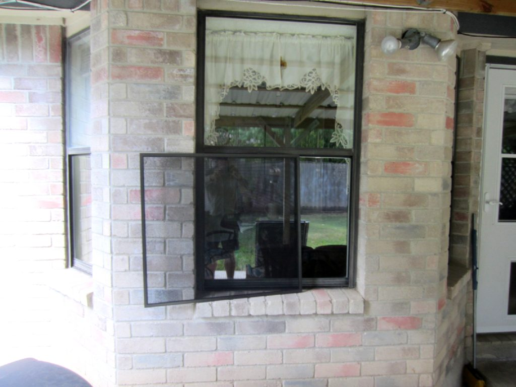 Here's a great picture show at an insect bug window screen and where it is going to install too. That insect bug window screen is the size of the opening portion of the window.