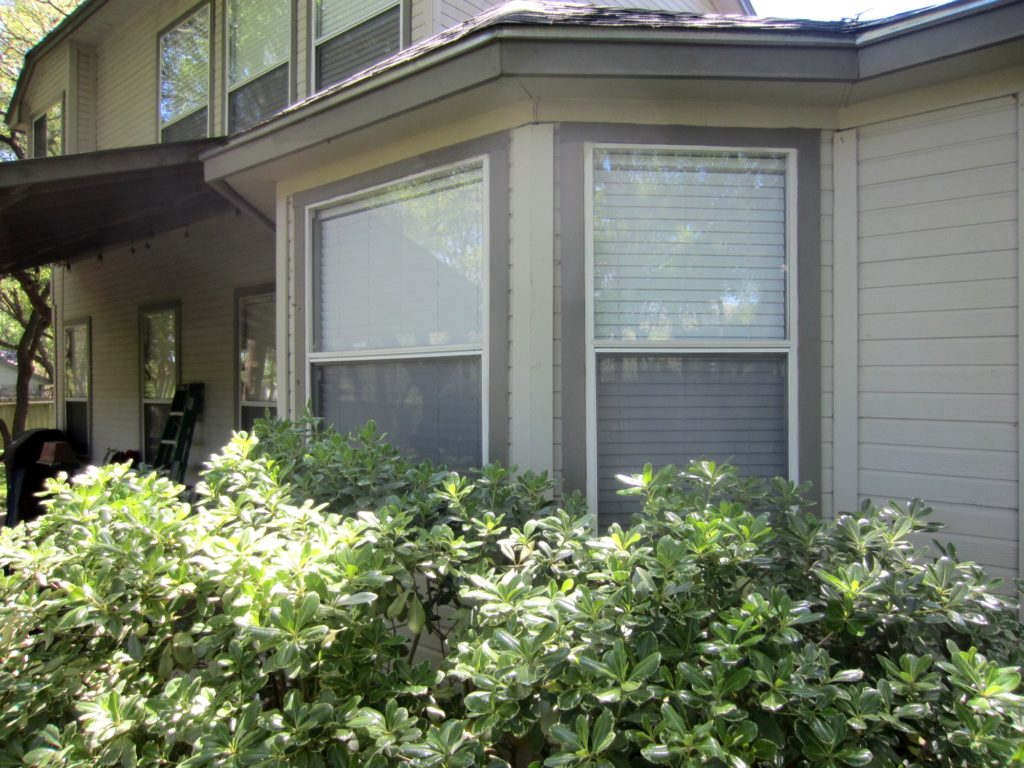 All of these windows here have insect bug window screens installed within them. Insect bug window screens fit into just the opening portion of the window.