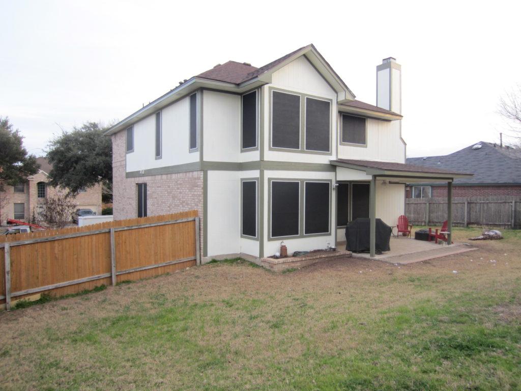 29 window Round Rock TX solar screen installation