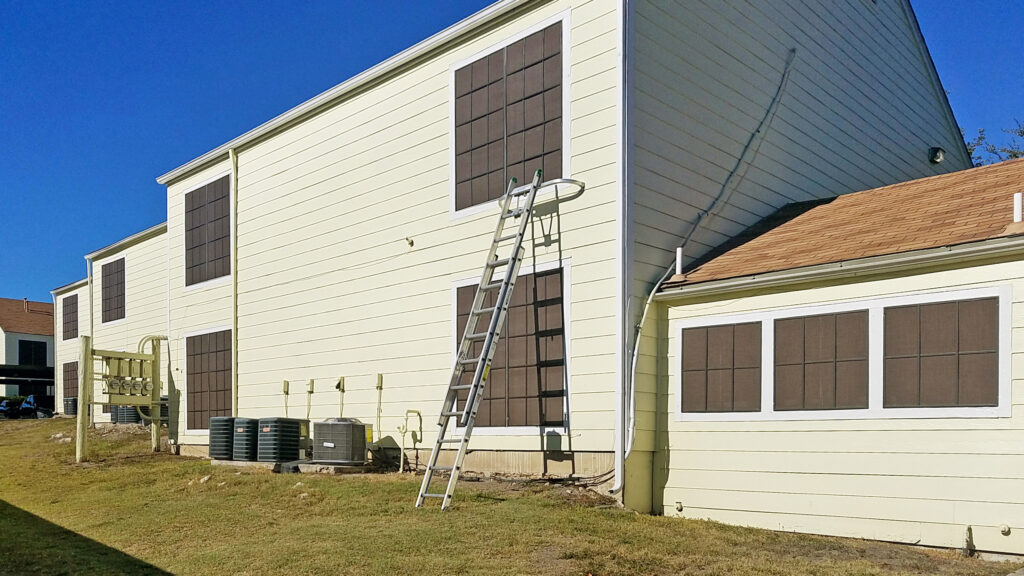 grid pattern apartment solar screens