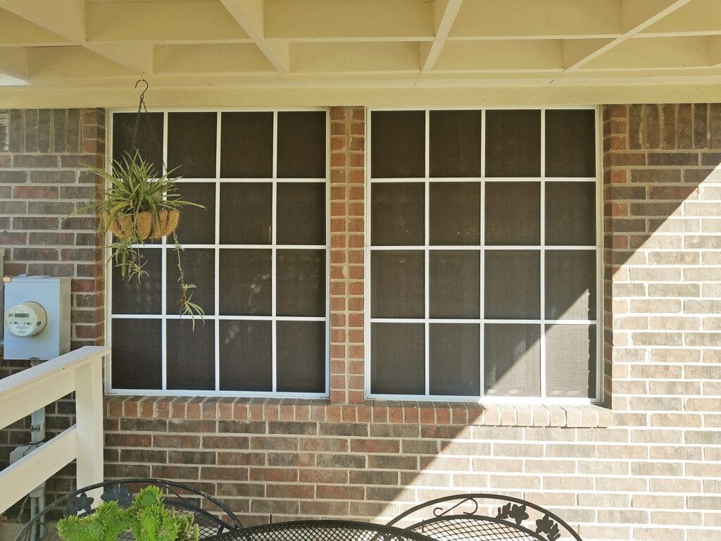 grid pattern solar window screens