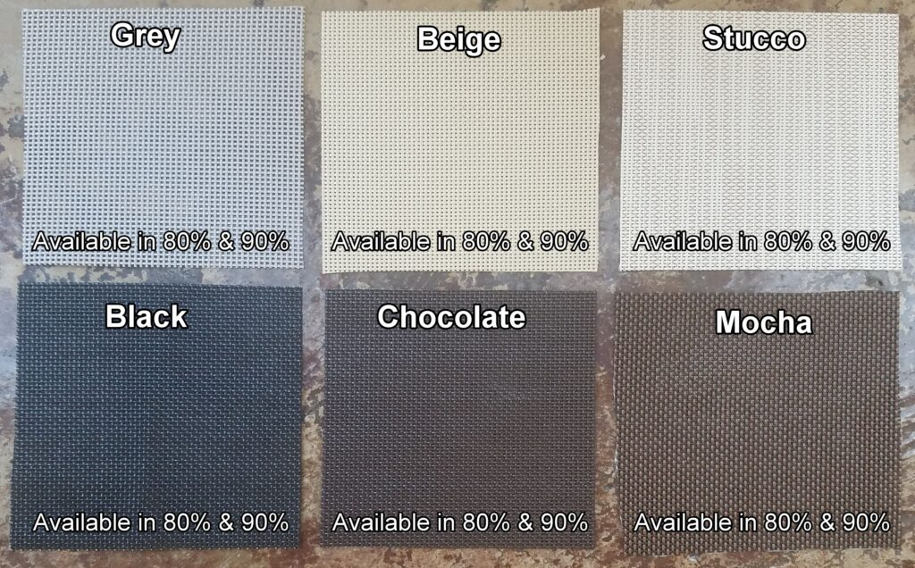 Solar screens by josh fabric color options